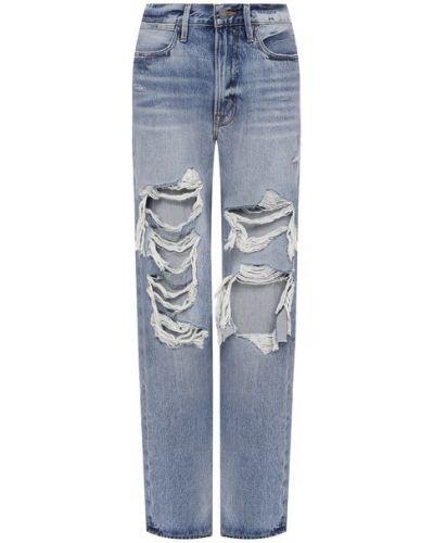 Хлопковые джинсы - синие Frame Denim