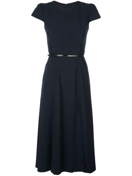 Niebieska sukienka midi rozkloszowana Elie Tahari