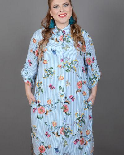 Платье на пуговицах из штапеля Avigal (avrora)
