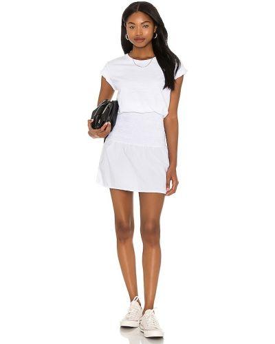 Ватное хлопковое белое платье-рубашка Nation Ltd