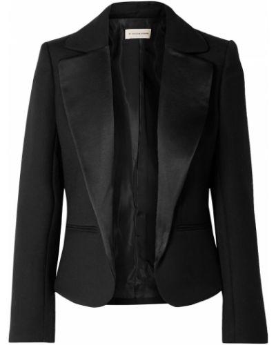 Шерстяной черный пиджак с карманами By Malene Birger