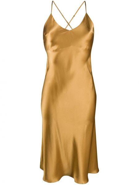 Платье миди платье-комбинация на бретелях Gilda & Pearl