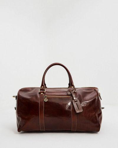 Коричневая дорожная сумка из натуральной кожи George Kini