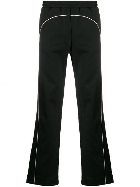 Prążkowane czarne spodnie bawełniane Misbhv
