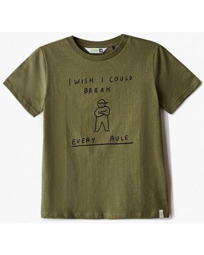 Зеленая футболка с короткими рукавами Sela