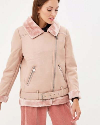 Розовая дубленка B.style