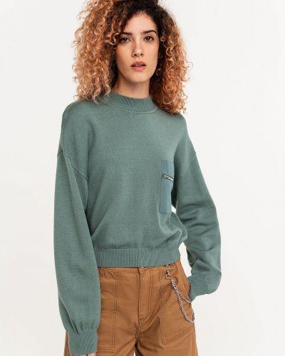 Трикотажная свитер на молнии в рубчик Befree