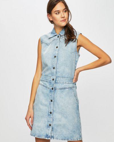 Джинсовое платье мини - синее Lee