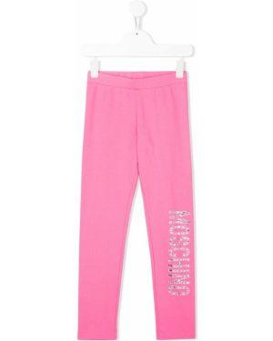 Брюки розовый Moschino Kids