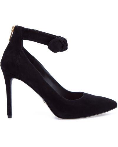 Туфли на каблуке черные с бантом Michael Michael Kors