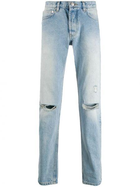 Прямые прямые джинсы на пуговицах с жемчугом с карманами Soulland