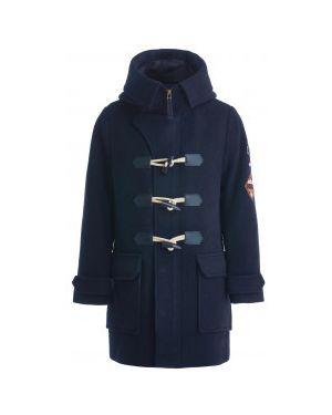 Пальто с капюшоном шерстяное на пуговицах Gulliver Wear