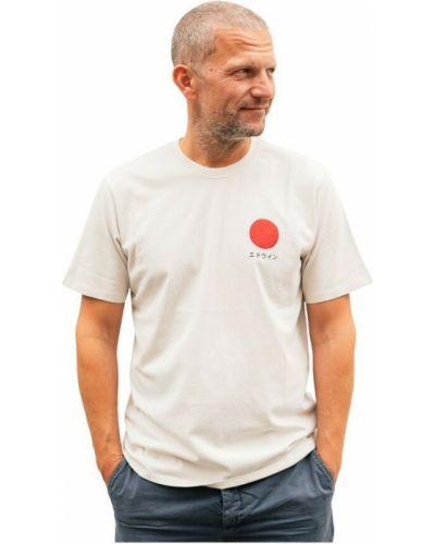 Biała t-shirt Edwin
