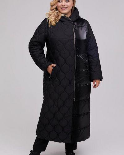 Стеганое пальто - черное Riches