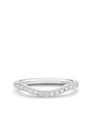 Белое кольцо с бриллиантом De Beers