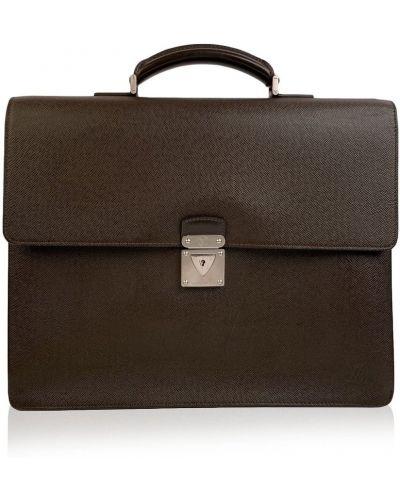 Brązowa teczka skórzana vintage Louis Vuitton Vintage