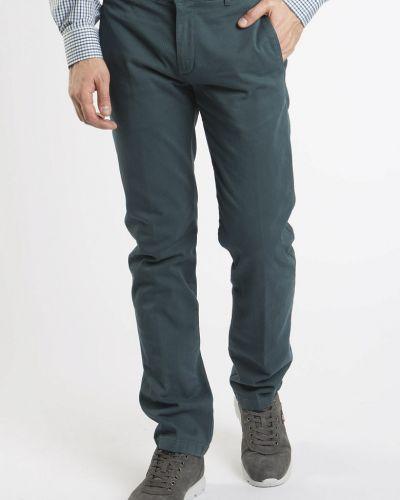 Хлопковые повседневные зеленые брюки Navigare