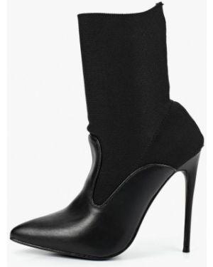 Ботинки на каблуке черные осенние Lost Ink.