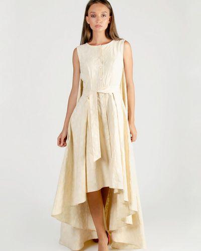Вечернее платье осеннее бежевое Kriza