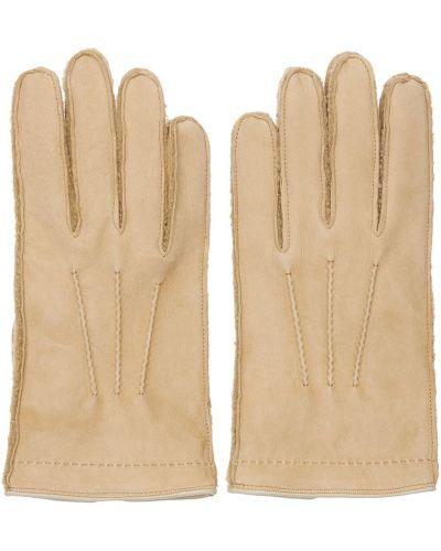 Beżowe rękawiczki Mario Portolano