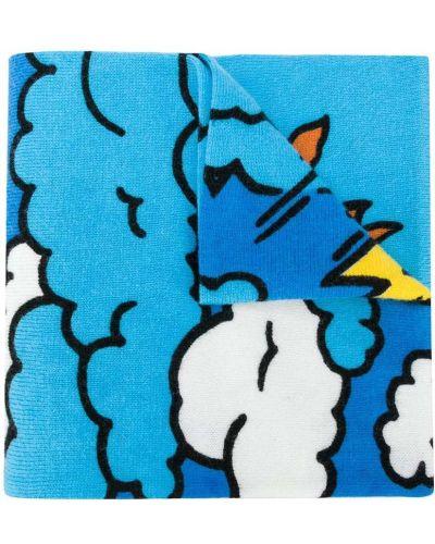 Брендовый синий шерстяной шарф Stella Mccartney Kids