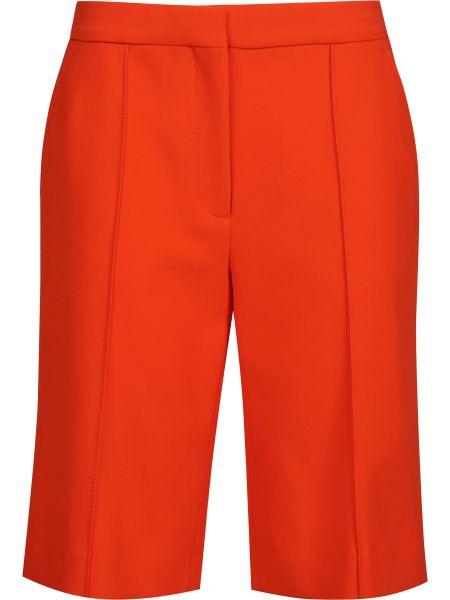 Оранжевые хлопковые шорты на молнии Victoria Beckham