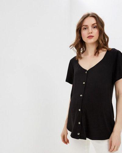Черная блузка с коротким рукавом Dorothy Perkins Maternity