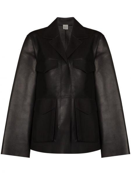 Армейская черная куртка на молнии Toteme