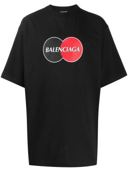 Koszula krótkie z krótkim rękawem z nadrukiem przeoczenie Balenciaga