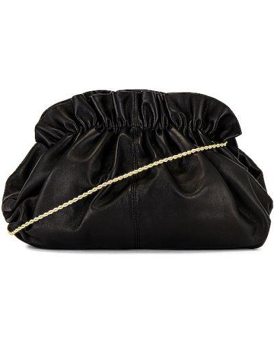 Otwarty z paskiem skórzany czarny torba sprzęgło Loeffler Randall
