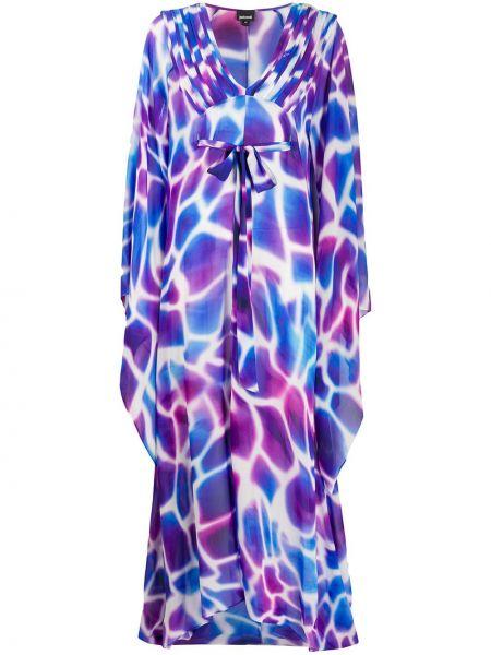 Платье макси длинное - синее Just Cavalli
