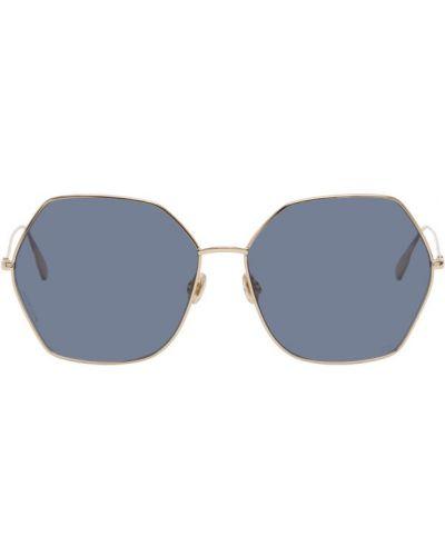 Кожаные черные солнцезащитные очки прозрачные Dior