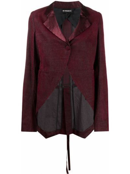 Ватная с рукавами красная длинная куртка Ann Demeulemeester