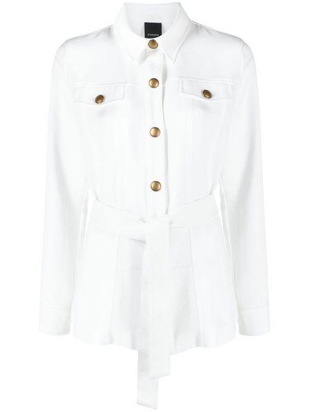 Белая рубашка с длинными рукавами с воротником Pinko