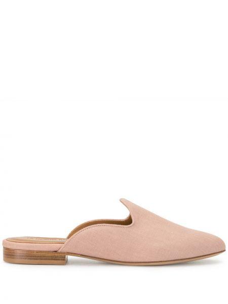 Кожаные розовые мюли на каблуке без застежки Le Monde Beryl