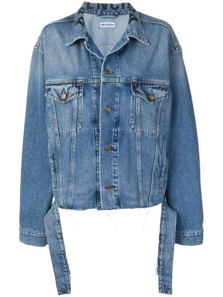 Джинсовая куртка с карманами рабочая Balenciaga