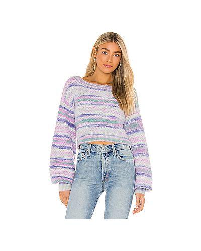 Акриловый фиолетовый пушистый свитер For Love & Lemons