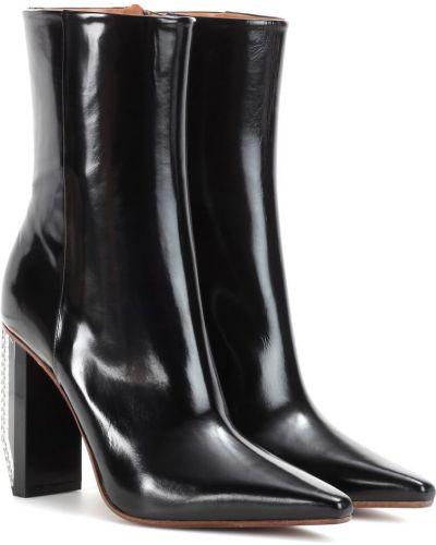Сапоги на высоком каблуке черные Vetements