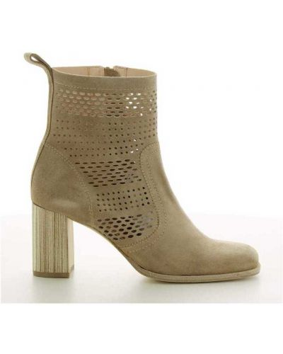 Beżowe ankle boots Zinda