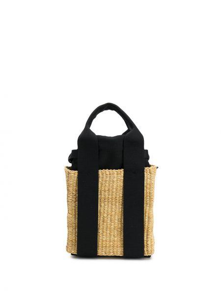 Хлопковая соломенная маленькая сумка Muun