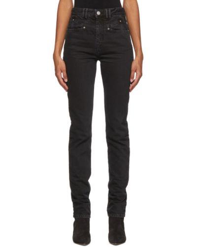 Czarny jeansy na wysokości z kieszeniami Isabel Marant