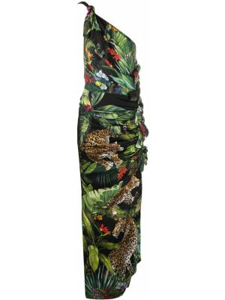 Sukienka mini chudy zielona Dolce And Gabbana