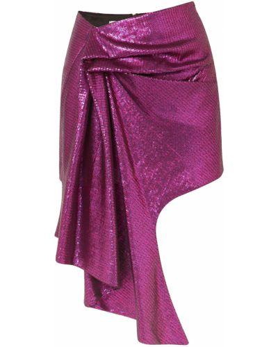 Fioletowa spódnica mini tiulowa asymetryczna Halpern