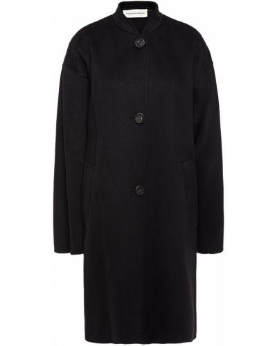 Кашемировое черное пальто с карманами Mansur Gavriel