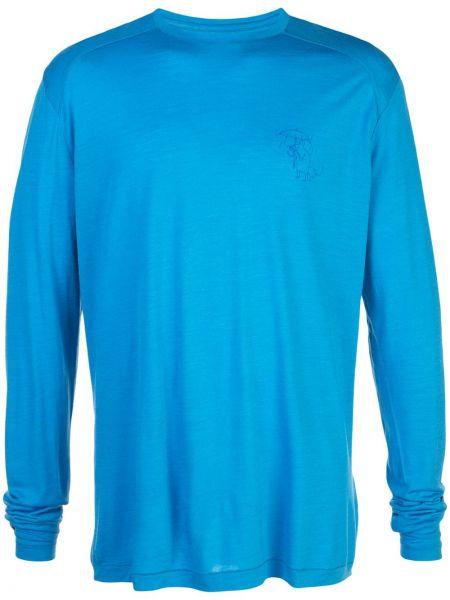 Шелковая футболка - синяя Klättermusen