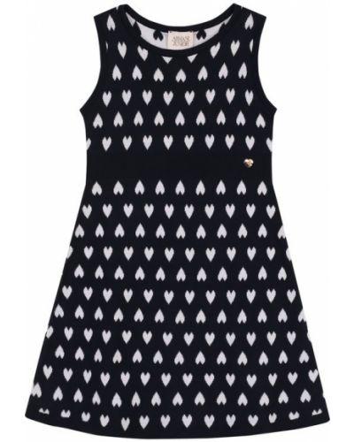 Платье мини с поясом с вырезом Armani Junior