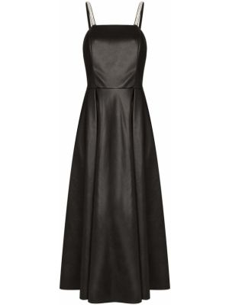 Акриловое расклешенное платье с открытой спиной на молнии Anouki