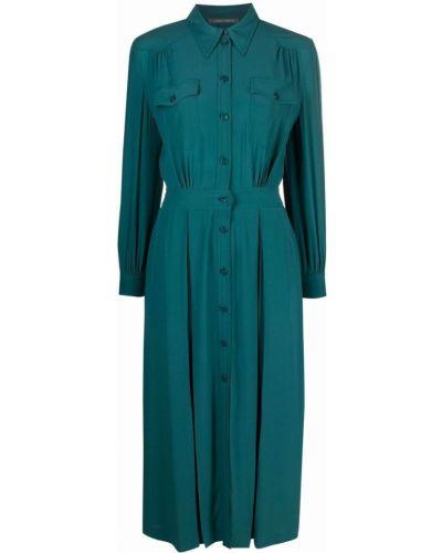 Платье макси с длинными рукавами - зеленое Alberta Ferretti
