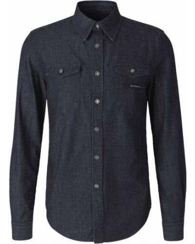 Czarna koszula jeansowa bawełniana na co dzień Givenchy