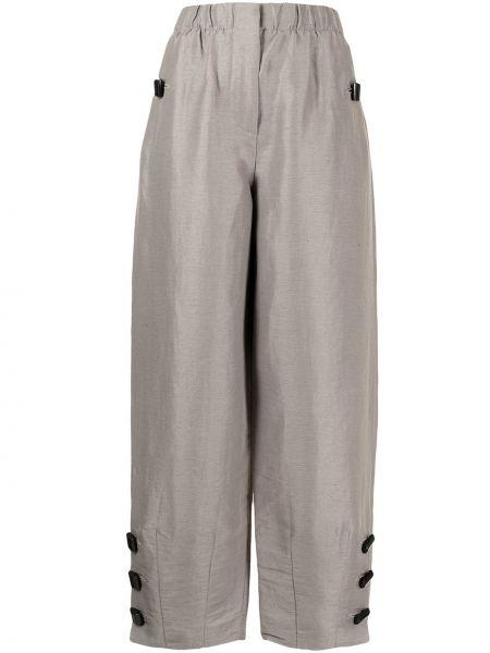 Прямые коричневые брюки с карманами Giorgio Armani